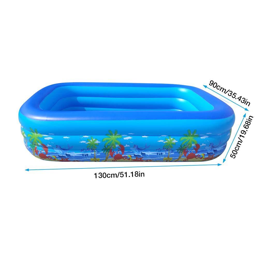 Yester - Piscina hinchable hinchable rectangular para piscina, inflable para niños, piscina, hinchable para adultos, fondo flexible y seguro y grueso, disponible en diferentes tamaños: Amazon.es: Hogar