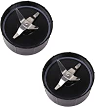 [2-Pack] Magic Bullet Cross Blade, Aquaxind Cross Blade Replacement Parts Compatible With Magic Bullet Blender (Model MB1001) - No Leaking Works Great With Both Dry and Wet Contents