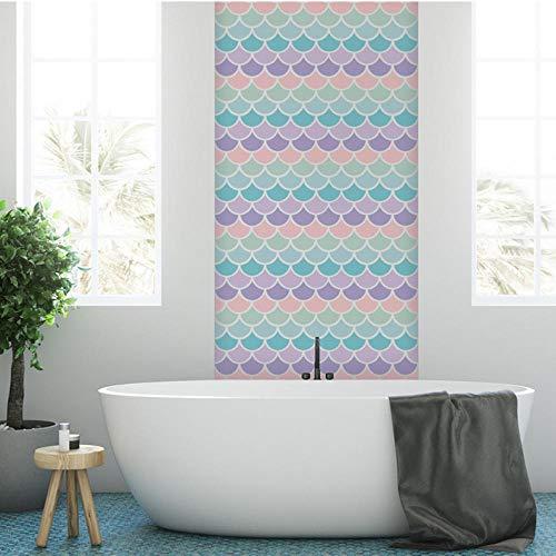 TTbaoz 2 Unidades de escamas de pescado de color DIY pegatina para el hogar autoadhesivo baño sala de estar azulejo calcomanías de pared decoración de combinación libre