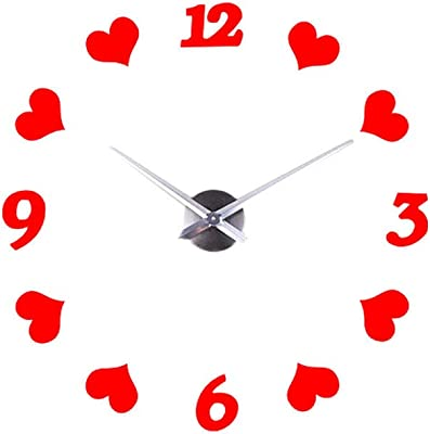 LiPing Creative Love Digital DIY Wall Clock for Home Kitchen Office Wall Clock - Easy to