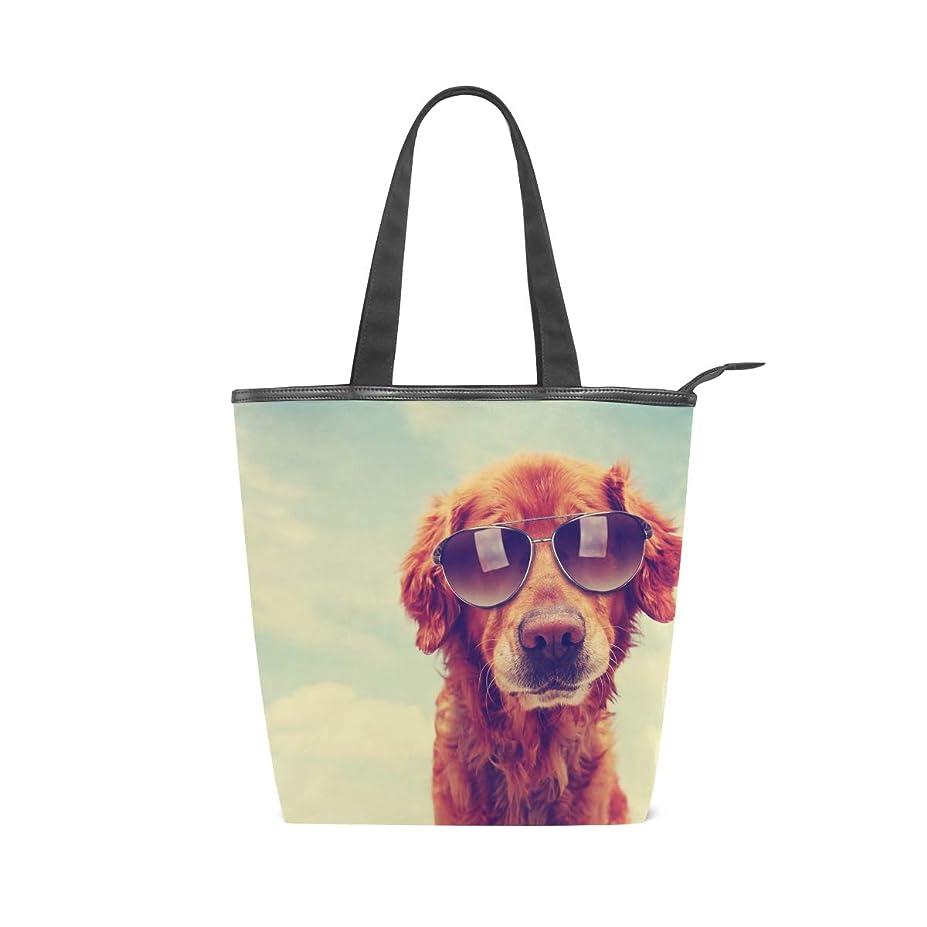 脚本家雪の生き物キャンバスバッグ トートバッグ ハンドバッグ 手提げ 犬柄 可愛い 大容量 通勤通学 メンズ レディース