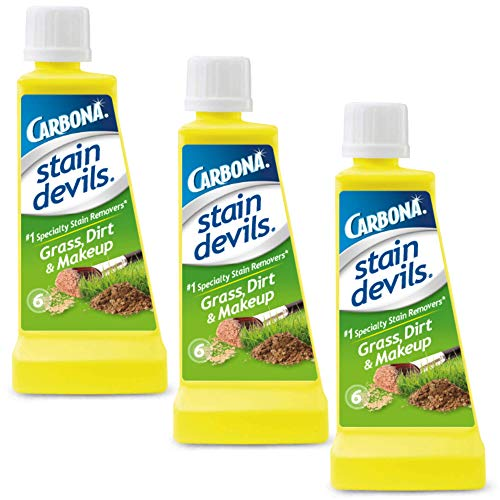 Carbona Stain Devils® #6 – Grass, Dirt & Make-Up | Professional Strength Laundry Stain Remover | Multi-Fabric Cleaner | Safe On Skin & Washable Fabrics | 1.7 Fl Oz, 3 Pack