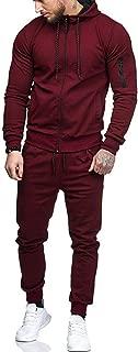 Zipper Patchwork Hoodie Pants Sets Tracksuit Jogging Sweatsuit Activewear