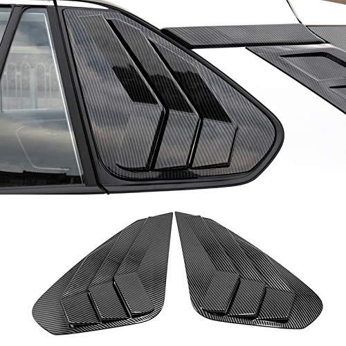 ITrims for Toyota RAV4 XA50 2019 2020 Car Accessories Rear Car Side Window Louvers Vent Cover Trim Decorative 2PCS (Carbon Fiber)