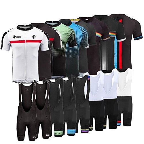 Uglyfrog Jersey Uomo Body Magliette Abbigliamento Ciclismo Set, Nuova Collezione Estivo Abbigliamento Sportivo per Bicicletta Maglia Manica Corta + Salopette Sets Corti per Uomo