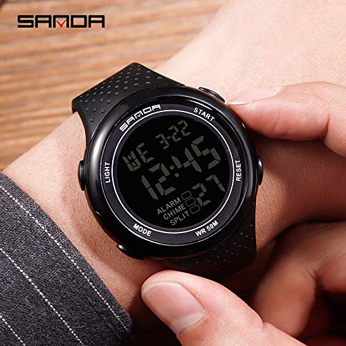 SJXIN Coole stilvolle Sanda-Uhr, Sanda Watch Herrenuhr für Digitale Männer Sportuhren (Color : 1)