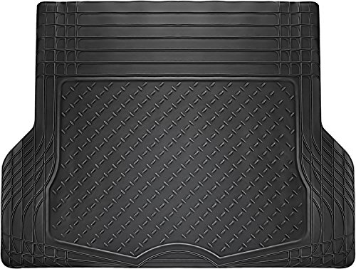 OxGord Cargo Liner Trunk Floor Mats w/Traction Grips Best for Handling Rough Luggage yet Waterproof for Plants, Spills and Pet Dog/Cat Hair Etc - Weather-Shield Built for SUV Truck Van Car Accessories