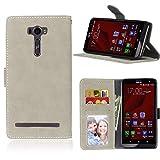 Ycloud Portefeuille Coque pour ASUS ZenFone 2 Laser ZE601KL 6.0'' Smartphone, Mate Texture PU Cuir...
