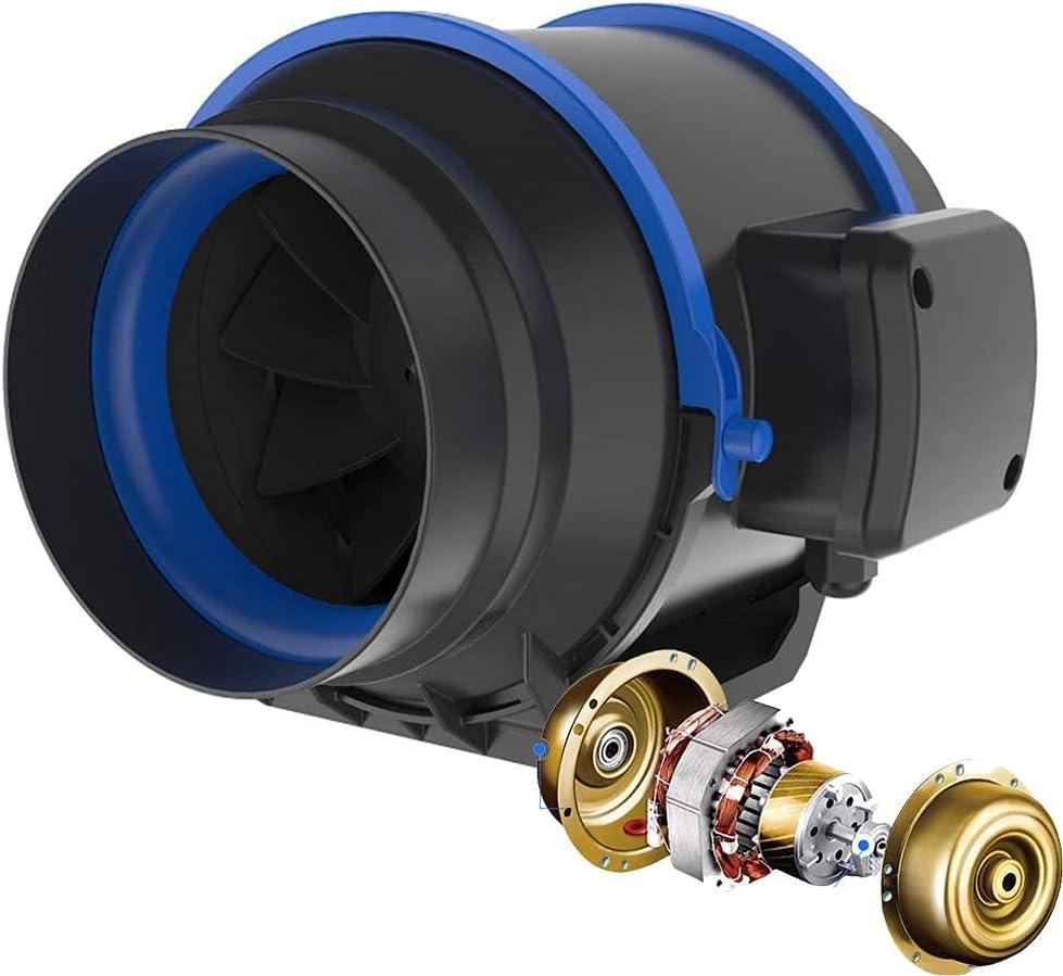 GAXQFEI Techo de Ducha en Línea de 6 Pulgadas Montado en Línea 150 Mm en Línea Bathroom Extractor Ventilador 150 Mm Silencioso en Línea Ventilador Inodoro Potente Ventilación Control Húmedo, Am150Mm,