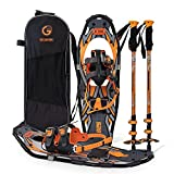 30 Inches Orange Light Weight Snowshoes for Women Men Youth Kids, Set with Carrying Tote Bag, Special EVA Padded Ratchet Binding,Heel Lift, Toe Box……