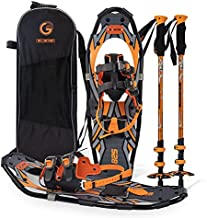 G2 21 Inches Orange Light Weight Snowshoes for Women Men Youth, Set with Tote Bag, Special EVA Padded Ratchet Binding, Heel Lift, Toe Box
