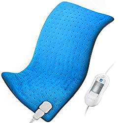 """Heating Pad for Back Pain and Cramps Relief ATMOKO XL Electric Heat Pad 12""""x25.5"""" Heat Pads 1.5X Heat Area Upgrade, Auto-Off, Washable, Fast Heating, Moist & Dry Heat Therapy Options"""