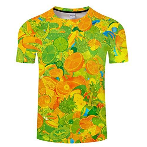 Camiseta 3D Camiseta De Los Hombres Camiseta De Las Mujeres Ropa De Calidad Tee Calle Arriba 6XL T Informal Camisa De Manga Corta Del O-Cuello TX559 Asian XXL