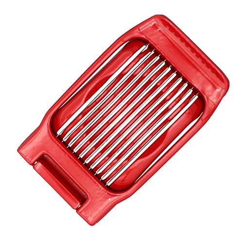 Kitchen Ninja - Eierschneider (rot), Vollmetall-Konstruktion mit Retro-Design (auch geeignet für Erdbeeren, Kiwis, Mozzarella, Pellkartoffeln)