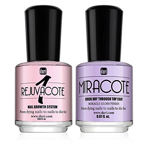 duri Rejuvacote 1, Miracote Nail Growth System Kit, 0.61 fl. Oz.