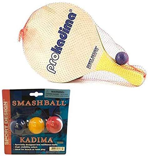 Pro Kadima Paddle Set Plus Replacement Smash Balls Bundle