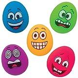 Baker Ross Mini Funky Gesichter Ei Flummis, Geschenke für Kinder Party Taschen (Packung mit 10)