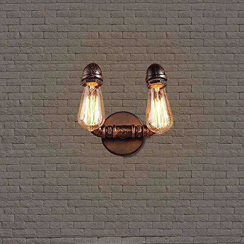 Preisvergleich Produktbild Yaione Doppelkopf Eisen Kunst Wasserleitung Wandleuchte Retro Industrie Kreative Beleuchtung Innenbeleuchtung Zubehör Wandleuchte Cafe Restaurant Bar Ganglicht Luxus Nacht Wohnambiente Wandleuchte