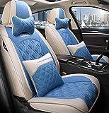 Car Seat cover set, cómodo piezas de automóvil, llenado de alforfón, transpirable y resistente al desgaste, conveniente para todas las estaciones,D