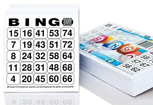 DiPrint 500 Bingo Karten / Bingo Lose System 25 aus 75 (10,5 x 11 cm)