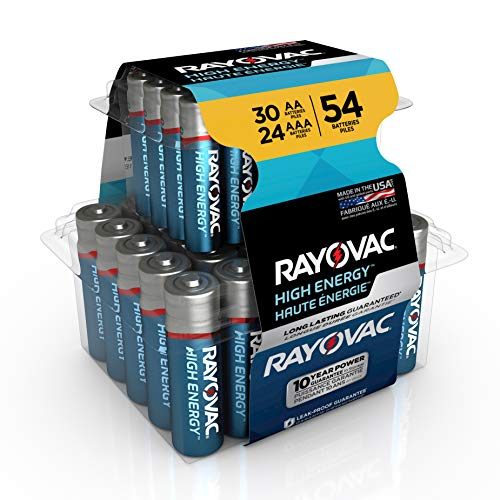 Rayovac AA Batteries & AAA Batteries Combo Pack, 30 AA and 24 AAA (54 Battery Count) (AL-54PP)