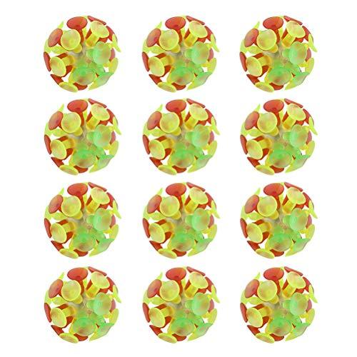 Toyvian 12 Stücke Saugnapf Ball Spielzeug Sauger Ball Wurf-Fangspiel Ballspiel Kinder Party Spielzeug für Kinder