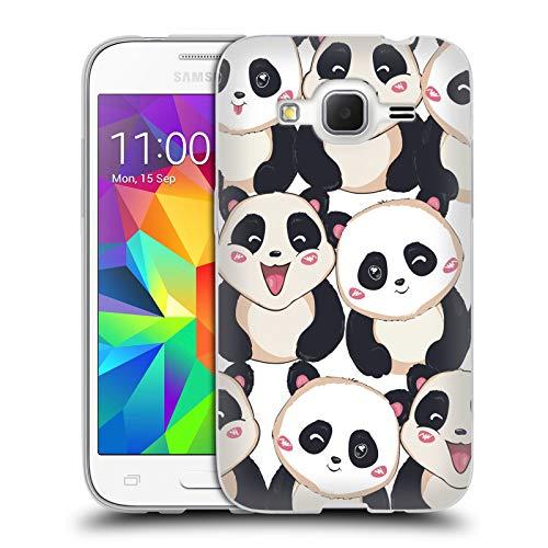 Head Case Designs Ufficiale Haroulita Panda Animali Baby Cover in Morbido Gel Compatibile con Samsung Galaxy Core Prime