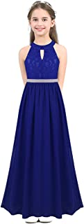 (アゴキー) Agoky 子供 女の子 シフォン ノースリーブ フラワーガール ドレス プリンセス ページェント ウェディング 花嫁介添人 誕生日 パーティー ドレス