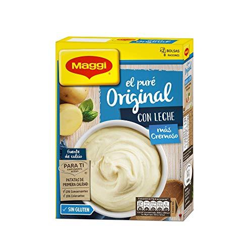 Maggi, Kartoffelpuree mit Milch, Glutenfrei, 8 Portionen (2 Päckchen), 230 g