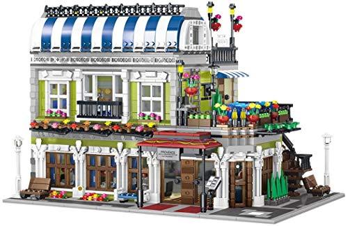 JIALI Provence Restaurant Townhouse Casa Modular, Edificio Modular Compatible con Lego 10255 City Life - 3577 PCS
