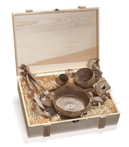 Kupilka Wood Box with all Items by Kupilka