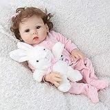 """18.9"""" 歳のための48センチメートルリボーン赤ちゃん人形ガール実生活と同様に生まれ変わる人形のリアルな新生児ベビードールフルボディソフトシリコーンクリスマスギフト3+"""