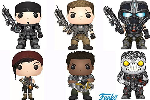 Gears of War Pop! Games Marcus Fenix, Armored JD Fenix, Clayton Carmine, Armored Kait Diaz, Armored del Walker, Locust Drone! Vinyl Figures Set of 6 by