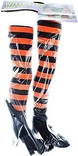 Fun World Striped Witch Legs Yard Stakes (Orange)