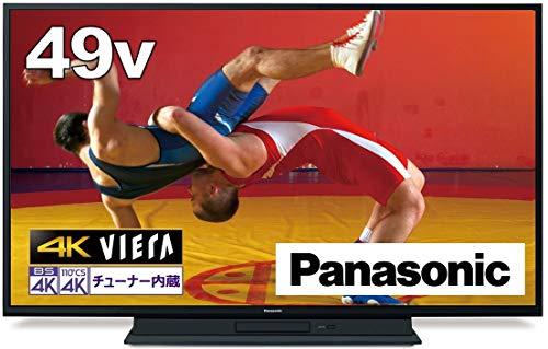 パナソニック 49V型 4Kダブルチューナー 2TB HDD&BDドライブ内蔵 液晶 テレビ VIERA TH-49GR770