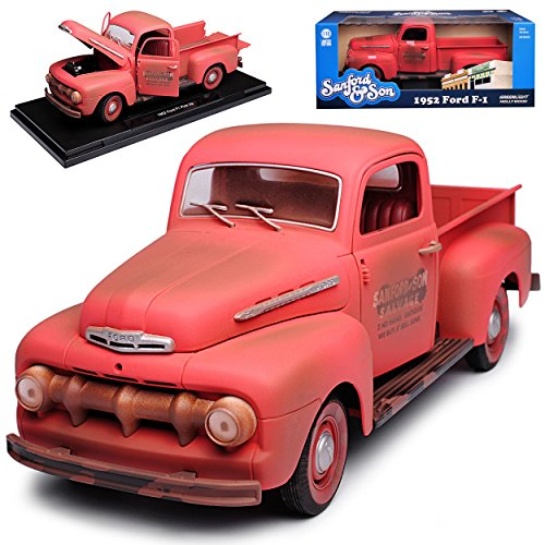 Greenlight Ford F-1 Pick-Up Rot mit Rost Sanford and Son 1. Generation 1948-1952 1/18 Modell Auto