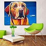 U/A Bulldog PaintingLiving Room Wall Canvas Art Poster Prints Animal Decorative Painting Dormitorio Sin Marco