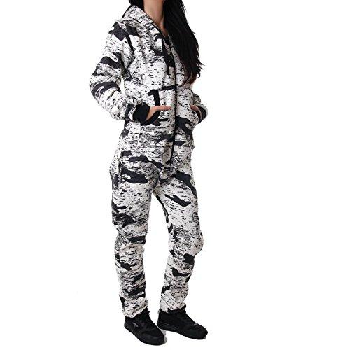 Crazy Age Jumpsuit Army Camouflage Neue Tarnfarben Batik CA 2820 (Schwarz/weiß) - 2