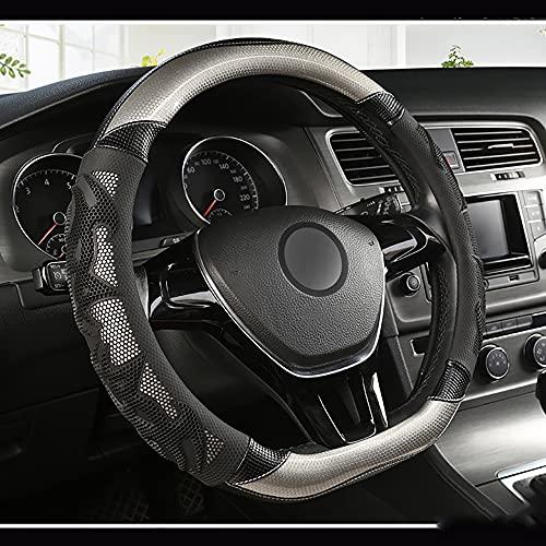 HJPOQZ Cubierta del Volante del Coche De Cuero Tipo D, para Buick Regal Encore Lacrosse Excelle XT Verano EnclavePlateado