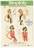 Simplicity Vintage UV5555OS Tops, Vest, JKTS, Coats, OS (ONE Size)