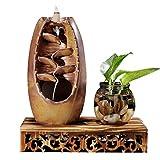 FTL&HONG Quemador de Incienso de la montaña Río artesanía de Incienso de cerámica de Humo contra el contraflujo Cascada incensario Titular Regalo de la Madre Decoración (Color : A)
