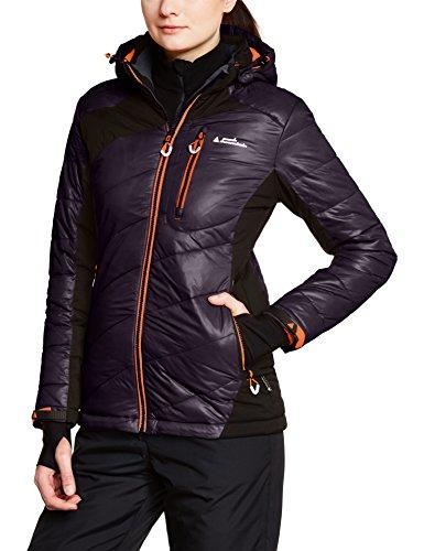 Peak Mountain Acybrid/tg Damen Skijacke, inkl. Stulpen und Schneegurt L schwarz - Noir/Corail