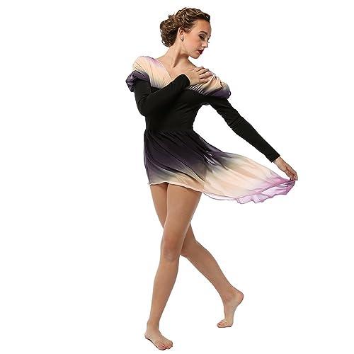 ddfd8661a Alexandra Collection Womens Belle Long Sleeve Skirted Lyrical Dress Dance  Costume