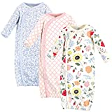 Touched by Nature unisex baby Organic Cotton Kimono Nightgown, Flutter Garden, 0-6 Months US