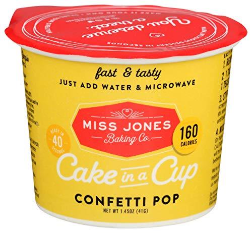 MISS JONES BAKING CO Organic Confetti Pop Cake In A Cup, 1.45 OZ
