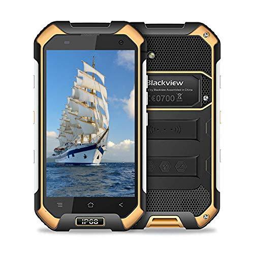 Teléfono Inteligente Resistente Blackview BV6000S - 4G Android 7.0-4.7 `` HD IP68 Teléfono de Doble Tarjeta a Prueba de Agua - 4500mAh Batería 2MP + 8MP - 2GB RAM + 16GB ROM (Amarillo)