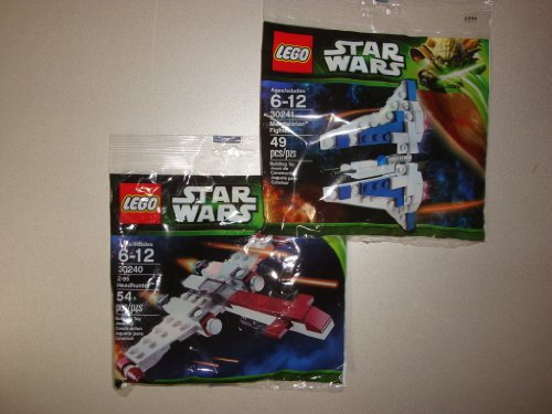 LEGO STAR WARS 30240 + 30241 (Mini Z-95 Headhunter y Mandalorian Fighter)