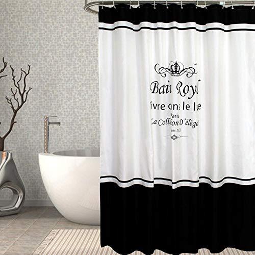 TONGDI Duschvorhang Dick Wasserdicht Öko-Fre& Modern Elegant Stripe Pattern Schnelltrocknender Druck für Badezimmer Waschraum Home, A, B200cm x L180cm