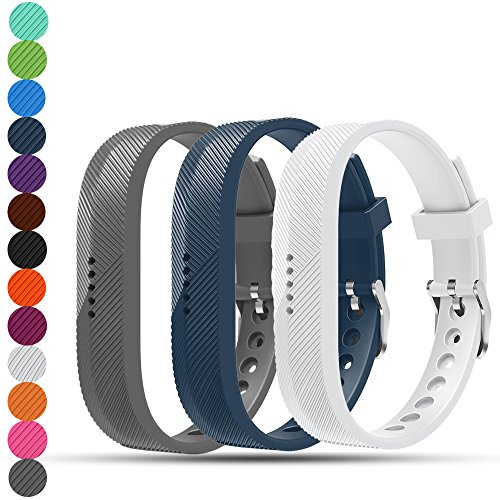 iFeeker Fitbit Flex 2 Replacement Wristbands Soft Silicone Metal Clasp Buckle Design WristStrap Bracelet Sport Watch Bands Holder Case Pouch for Fitbit Flex2 Fitness Activity Tracker
