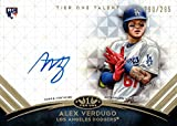 2018 Topps Tier One #TTA-AV Alex Verdugo Certified Autograph Baseball Rookie Card - Only 295 made!. rookie card picture